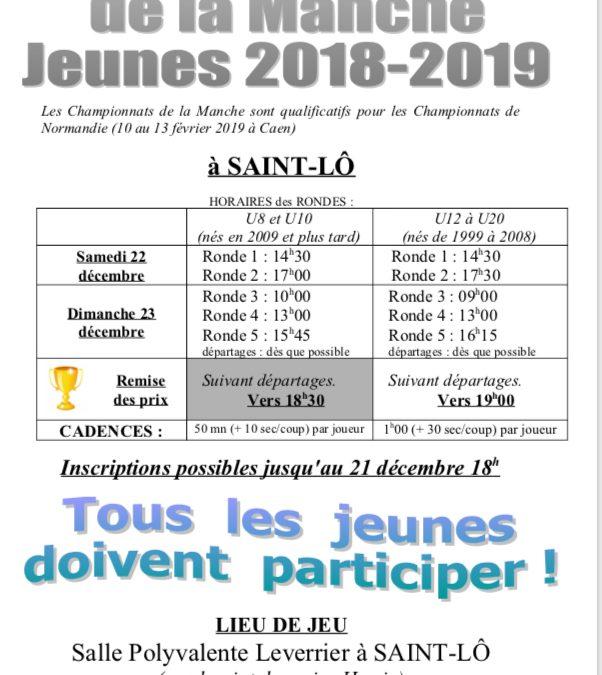 CHAMPIONNATS DE LA MANCHE JEUNES